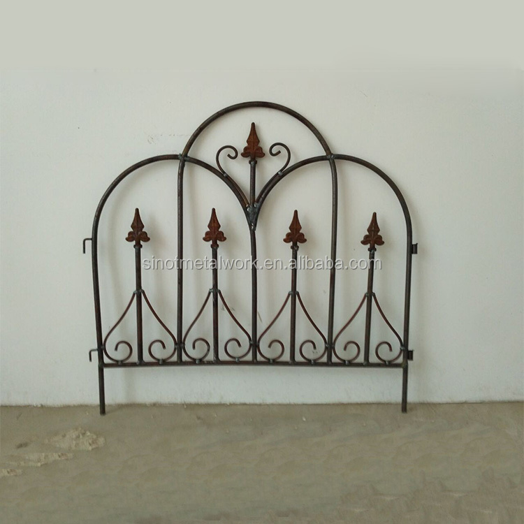 garden supplies wrought iron decorative lawn edging modern metal lawn fencing