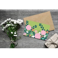 Wholesale luxury handmade decoration full color greeting card