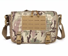 Manufacturer wholesale waterproof laser cut molle tactical laptop sling bag military style fancy messenger soldier combat bag