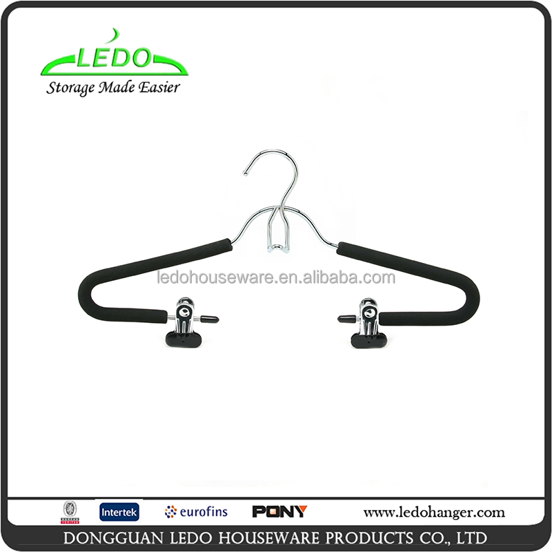 Heavy Wire Foam Chrome Clothes With Hook And Clips Hanger