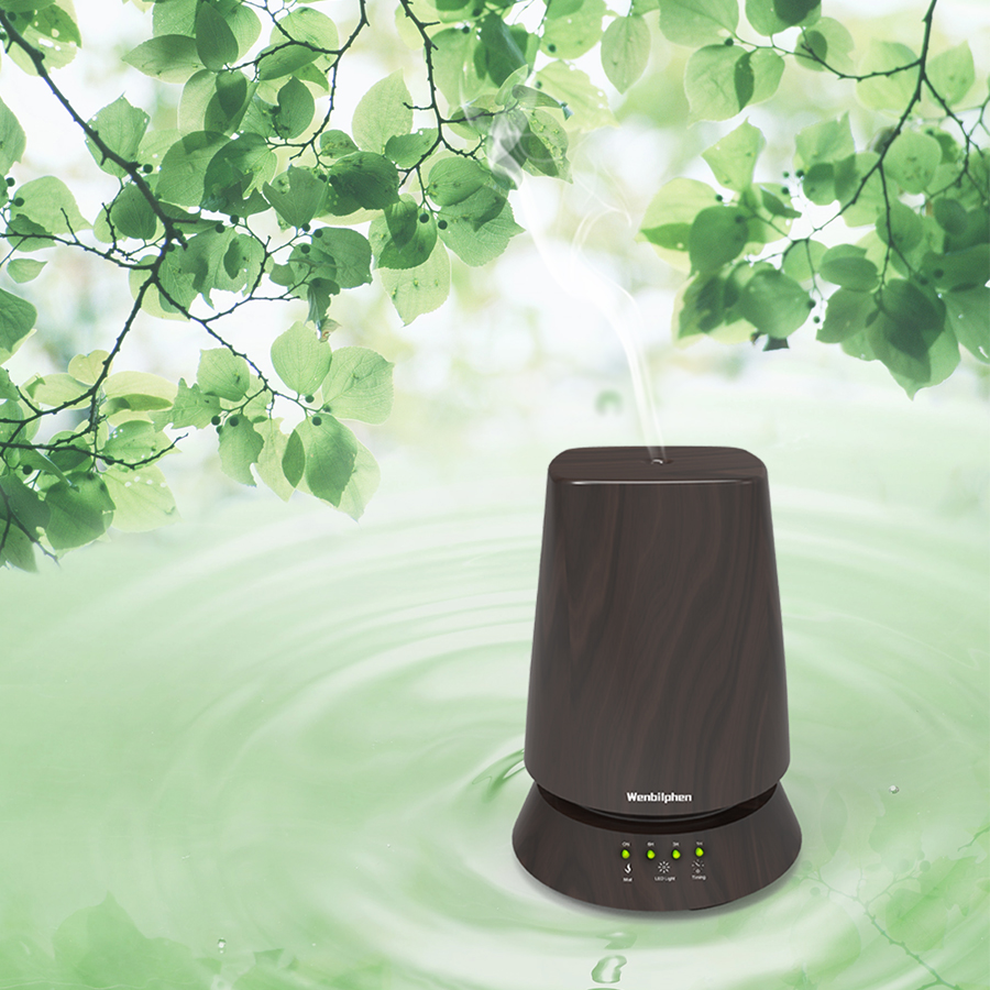 Advanced Ultrasonic Aroma Diffuser Tech Makes Healthy Life, 350ml Portable Essential Oil Diffuser with Romantic Night Light