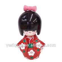 chinese wooden handcraft pretty dolls with japan style for gifts