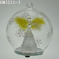 wholeslae christmas hand-painted glass ball decoration