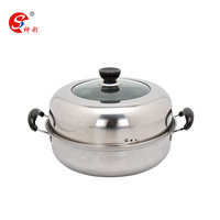28cm steam cooking pot food steamers stainless steamer and sauce pot