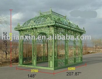 Original wrought iron gazebo