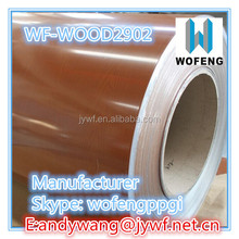 prepainted galvanized steel coil wooden ppgi for wall panel
