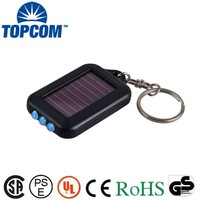 UV Rechargeable 3 LED Torch With Keyring Solar Keychain Light