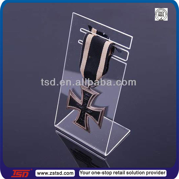 TSD-A514 acrylic medal stands/acrylic medal holder/acrylic medal display stands