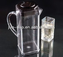 Plastic container for wine, juice and water. 2L liquid plastic bottle with lid