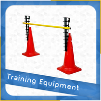HURDLE CONE SET FOR SOCCER TRAINING, 2 PCS CONES + 2 PCS LADDERS+1 PCS POLE