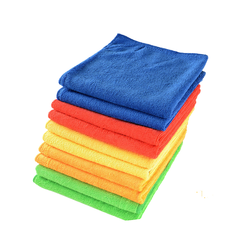 Housewares Microfibre Cloths of Pack of 10 in 40 x 40cm - Pink, Blue, Yellow, Green, Red