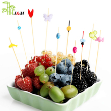 2018 hot decorative beads bbq bamboo skewer picks for party