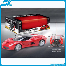 2016 New Ferrary 1:18 4CH Remote control car plastic rc toys rc car plastic propel rc car