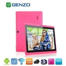 7 inch dual core A33 cheap tablets made in china Q88