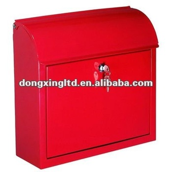 Metal rectanglar square outdoor mailbox