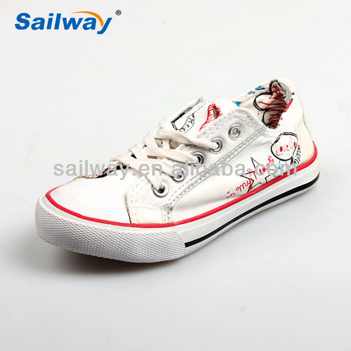 white canvas shoes wholesale custom design