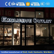 Stainless Steel Advertising Signage Led Backlit Acrylic Channel Letter Sign
