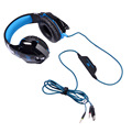 Luxury USB 3.5MM Stereo PC Gaming Headset With Cool LED Light---Noise-cancelling Microphone , In-line Volume Control