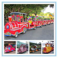Fwulong amusement park electric trackless diesel road train for sale