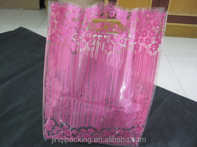 Fashion plastic gift bags with handles