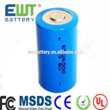 Power type ER26500m Spiral cell 3.6V 6500mAh lithium <strong>battery</strong> <strong>C</strong>-size lisocl2 <strong>battery</strong> with connector
