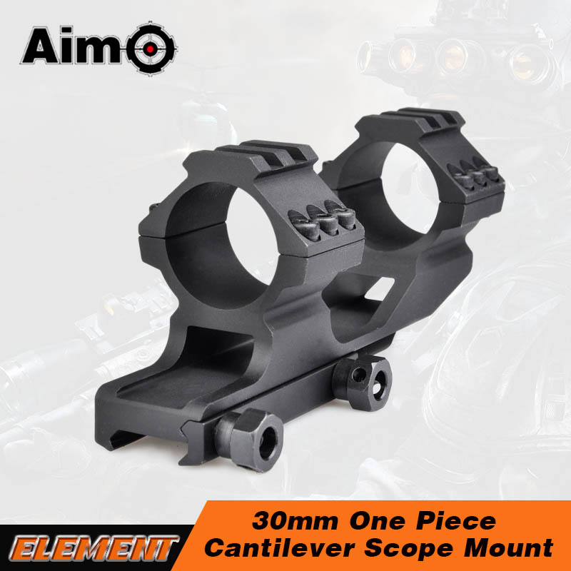 Aim-O Optics 25mm 30mm Double Telescope Rings Dual 1 Piece Cantilever Scope Mount 20mm Tactical Hunting Rail Mount AO 9002