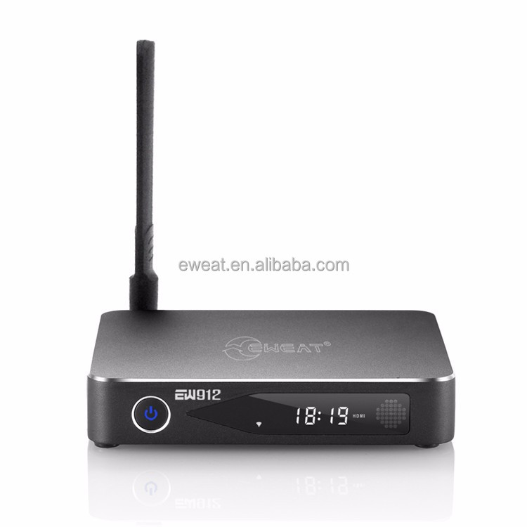 Wholesale android tv box set top box hot sale 2g ram 16g emmc 4k amlogic s912 hd setup box for cable tv