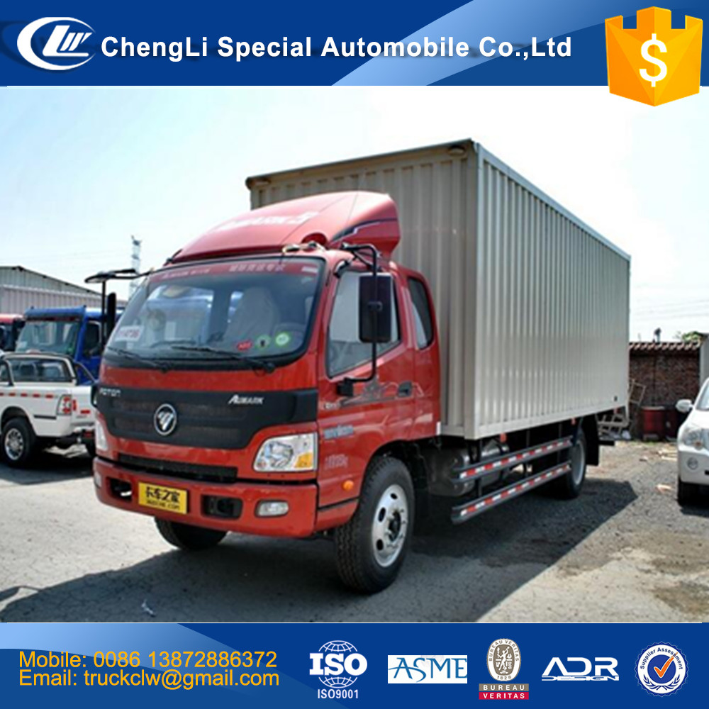 Good performance Foton Aumark Cargo Van Truck 5ton, 6ton 10ton Goods delivery closed Van truck competitive price 4x2 light truck