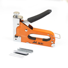 3-way Manual Nail Staple Gun for Wood Door Upholstery Framing Hand Staple Nail Tacker Stapler Gun with 600pcs Nails