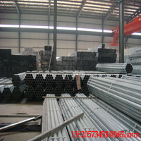 bs1387 pre cs galvanized steel pipe size in China