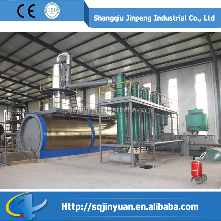 CE and ISO Waste Oil to Desel Distillation Plant from Shangqiu JINPENG