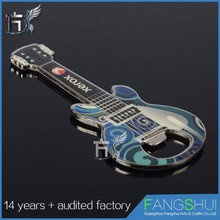 Best stainless steel custom shape guitar metal bottle opener fridge magnet bottle opener