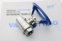 Stainless Steel 2PC Ball Valve with Oval Handle, Screw END