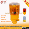 Revolving LED Road Safety Solar Warning Blinker used on cone with 360 degree light