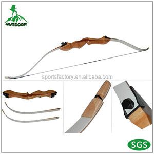 Wooden take-down longbow 14lbs archery practicing children recurve bow