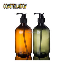 wholesale cosmetic empty designed plastic shampoo bottle lotion bottle PET bottle