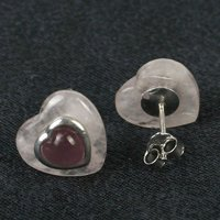 Heart Crystal Earring Fashion Jewelry Rose Quartz