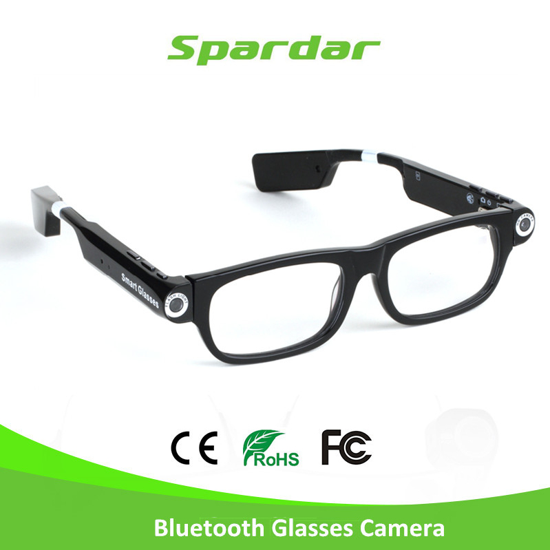 HD 720P Video Recording Safety Glasses with Bluetooth Headset Calling and Music Playing