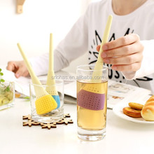 China wholesale market FDA silicone feature brush shape bulk tea infusers