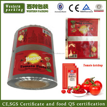 sachet packaging film for shampoo/juice/sauce, multilayer perforated food packaging film