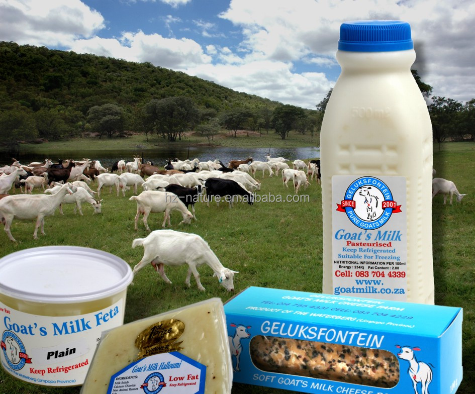 Organic Goat UHT milk 3.5% Formula and Ingredients.