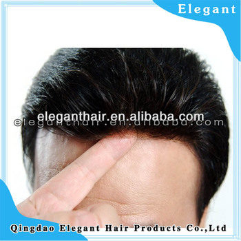 Indian remy hair super thin skin toupee for men