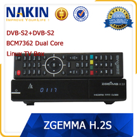 Genuine linux Zgemma twin dvb-s2 tuner Dual Core tv box receiver zgemma h2s satellite decoder