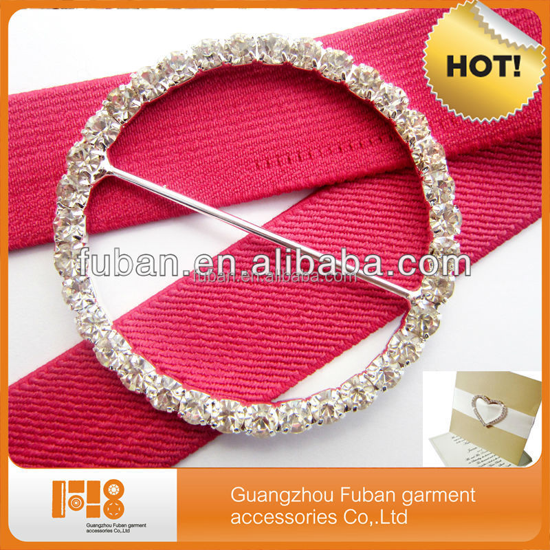 high quality round rhinestone adjustable belt buckles for Wedding Chair Covers
