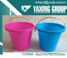 5L plastic bucket with rope handle