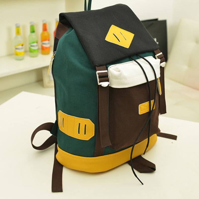 Travel School Book Bags College Sack Outdoor Rucksack Vintage Backpack