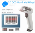 WNC-6080g-USB Portable BARCODE SCANNER CCD WINSON Turnstile Ticket Handheld Portable Barcode Scanner