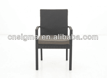 2017 Trade Assurance New Design outdoor pe rattan resin wicker aluminum stacking chair