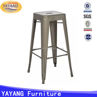 commercial furniture industrial vintage cheap commercial bar metal stool with arm for sale