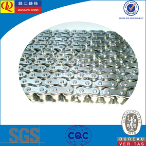 Stainless steel straight plate double pitch conveyor chains SS60